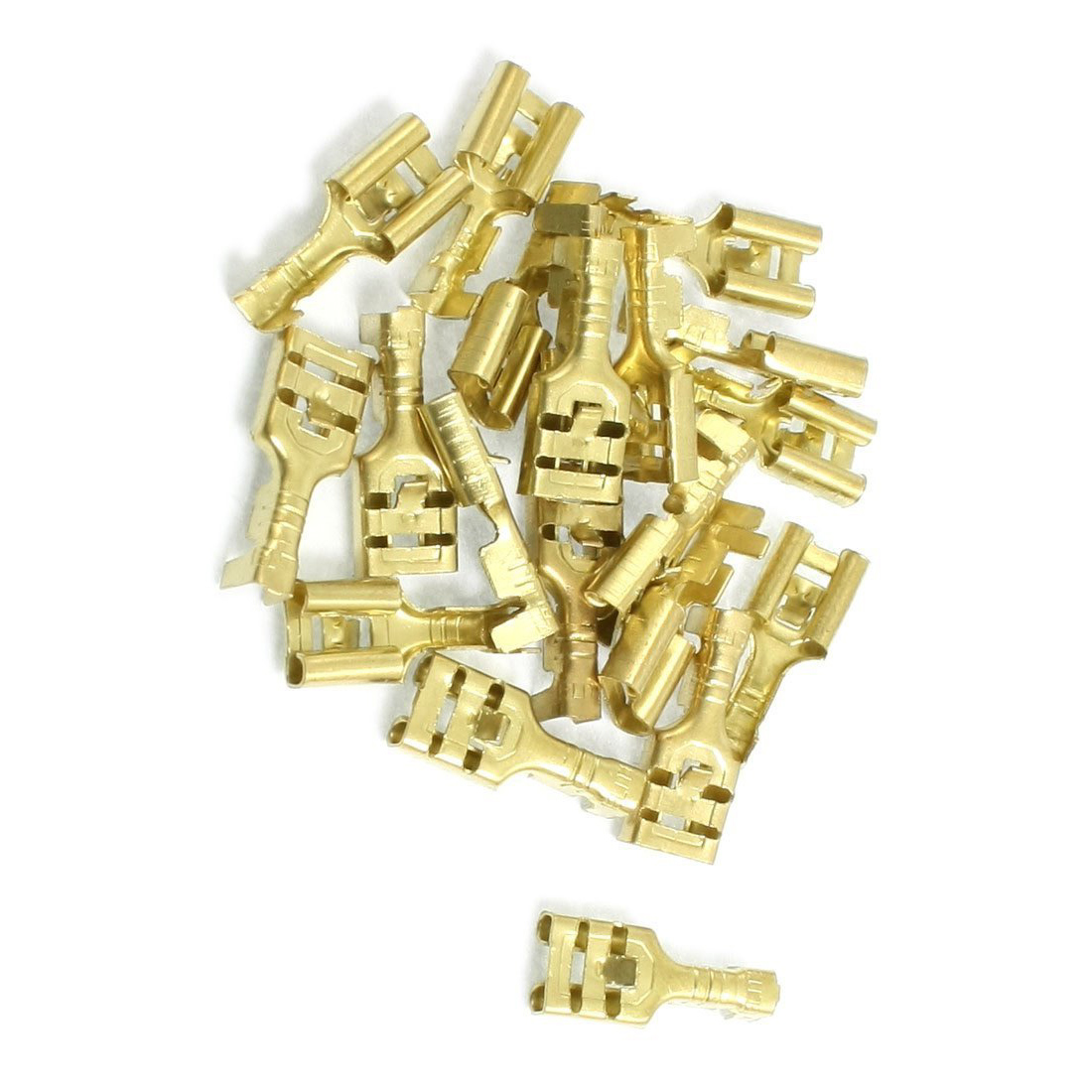 SZS Wholesale Brass 6.3 mm Connectors Female Spade Cable Terminals, 20 Piece(China (Mainland))