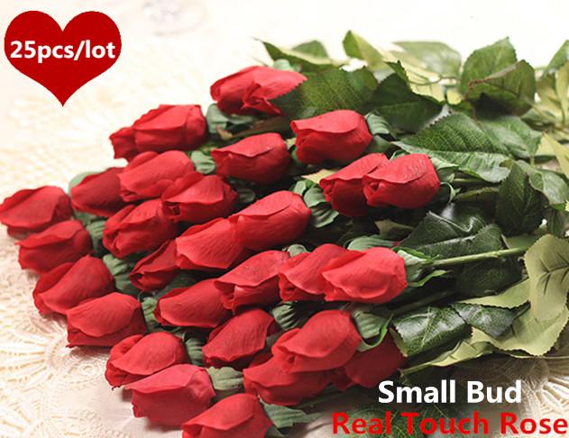 цена  Искусственные цветы для дома Rose 25pcs  онлайн в 2017 году