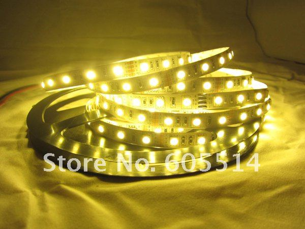 [Seven Neon]5050 60leds/meter WW IP20 waterproof led smd strip light+led strip controller+12V 5A power adaptor for Akihiro(China (Mainland))