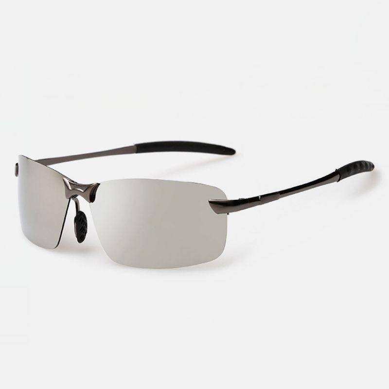 Frameless Mens Glasses : Designer Rimless Polarized Sport Sunglasses For Men Metal ...