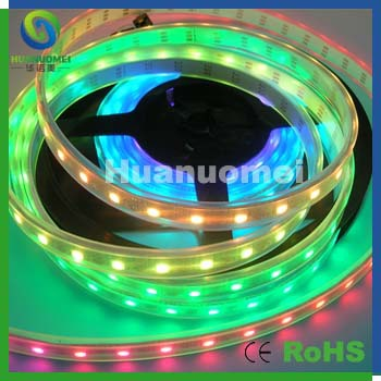 IP65/IP67 4m/lot 300leds Magic color led strip lights 60pixels/m programmable outdoor display(China (Mainland))