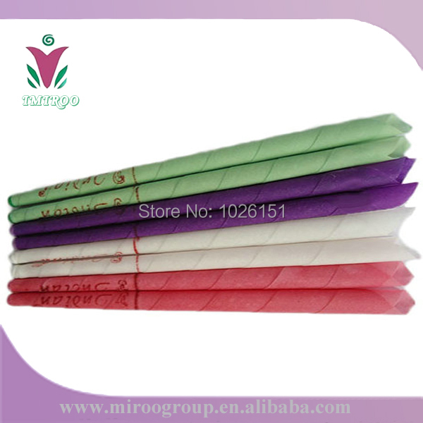 2016 Hotsale 25pairs=50pcs essential oil bee wax ear candles, natural pure ear coning beewax candling (trumpet conical shape)(China (Mainland))