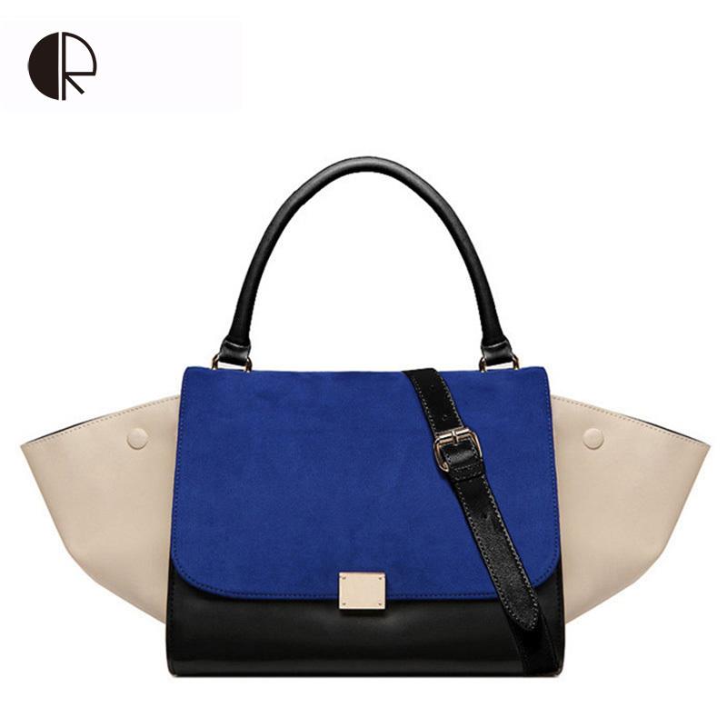 Hot Sale Women Designer Inspire Tote Fashion Trapeze Big Ears Smiley Swing Bag Tricolor Celebrity Handbag BH159(China (Mainland))