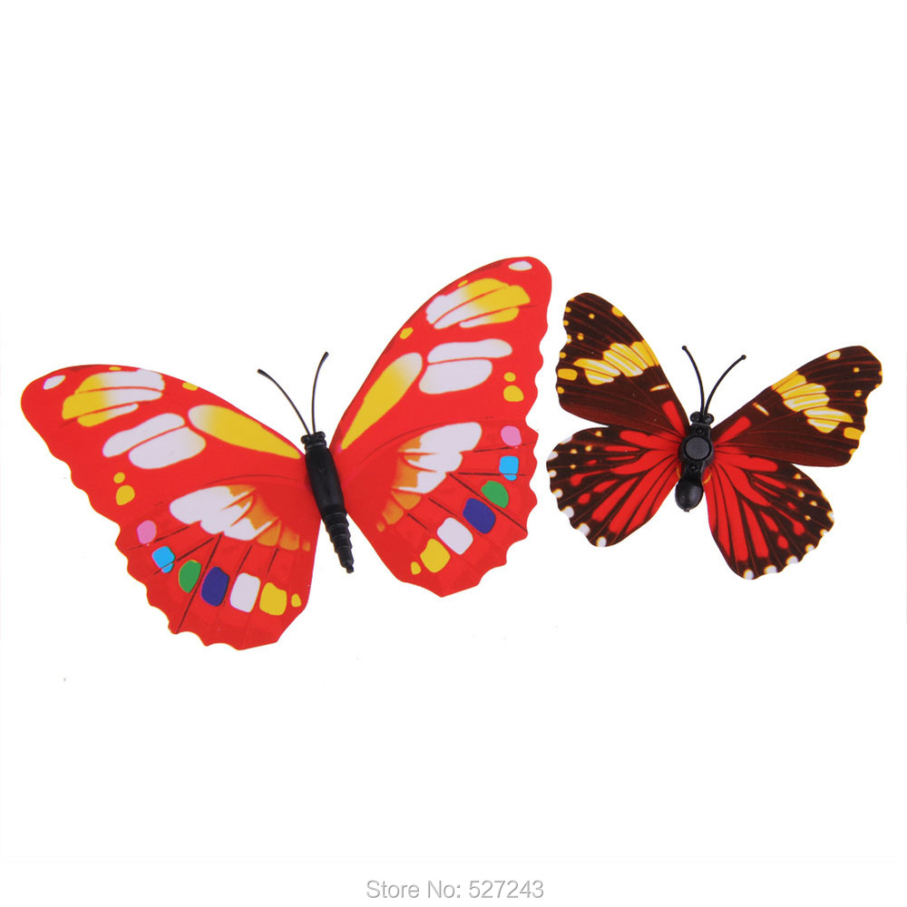 Cu3 new art design decal wall stickers home decor room for Butterfly decorations for home