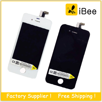 LCD Display touch screen with digitizer replacement parts for iPhone 4 4S CDMA ,  Free DHL Shipping(China (Mainland))
