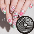 New Stamping Plate hehe78 Nail Art Stamping Quarter Template Winter Snowflake Nordic Knits Image Transfer DIY