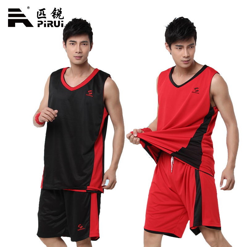 2015 summer style The new double-sided wear basketball clothes suit men basketball training jersey customized ventilation buy 1(China (Mainland))