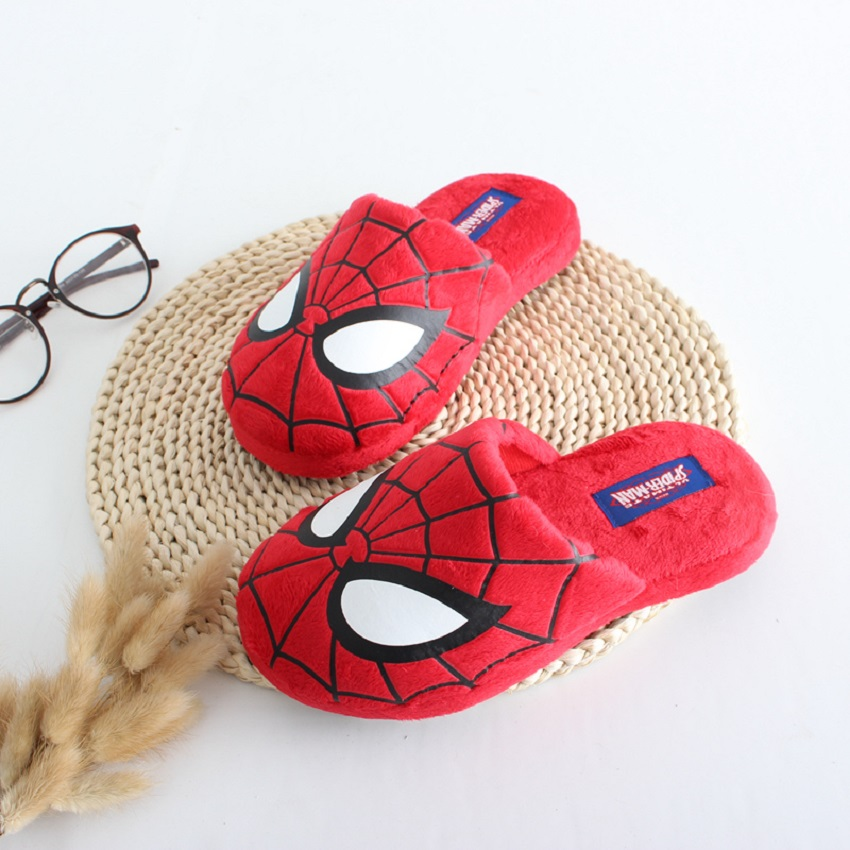 spider man cotton slippers women and men ladies house slippers zapatillas para casa(China (Mainland))