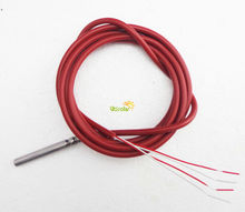 4 Wire PT100 Temperature Sensor 4 Wire with Silicone Gel Coated 1.5Meters Probe 50mm*6mm -50-180 centigrade RTD thermistor(China (Mainland))