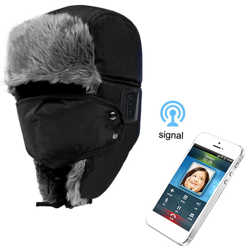 Factory Price Soft Unisex Winter Thicken Hat Wireless Bluetooth Smart Cap Headset Headphone Speaker Mic 51110(China (Mainland))