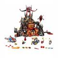 New lepin 14019 Knights Jestros Vulkanfestung Model Building Kit Assemblage Blocks Toy Compatible SY801 70323