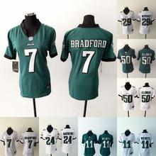 2016 Women Ladies Philadelphia Eagles, 7 Sam Bradford 11 Tim Tebow 29 DeMarco Murray 43 Darren Sproles,100% stitched logo(China (Mainland))