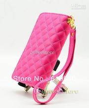 60pcs Faux Luxury Diamond Wallet Leather Case Cover Pouch Pocket & Money Credit Card Holder For iPhone 4 4S 5 Galaxy S2 I9100(China (Mainland))