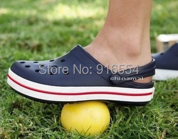 new 2014 brand band unisex adult classic clogs sandal hole resin casual Men & Women's beach sandals flip flop slippers dropship(China (Mainland))