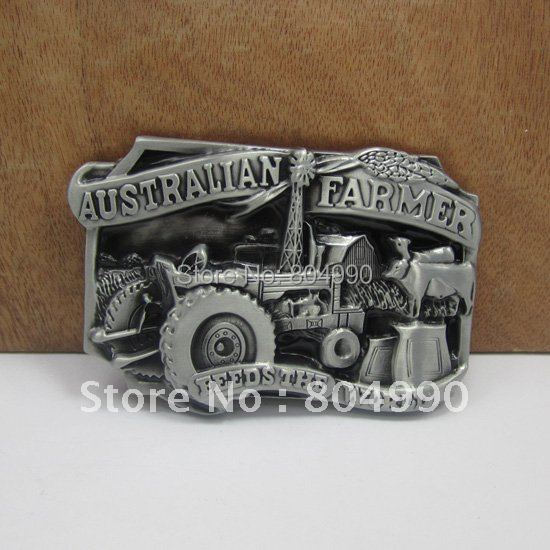 Fashion farmer belt buckle with pewter finish plating FP-02944 suitable for 4cm wideth belt with continous stock(China (Mainland))