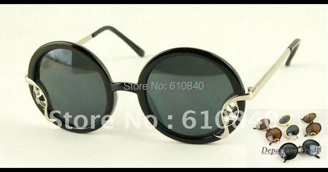 2012 Newest aevogue ретро стиль круглая рамка лист-формы сплава украшения бренд солнцезащитные очки женщин унисекс солнечные очки DT0212