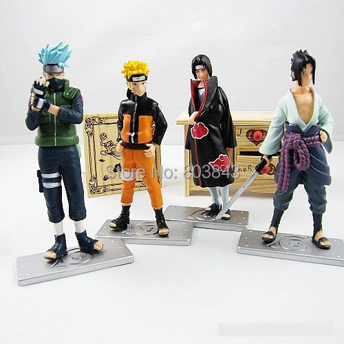 Promotions Good PVC 17th Generation Anime Naruto Action Figure Model Toy 4pcs/set For Decoration Collection Gift(China (Mainland))