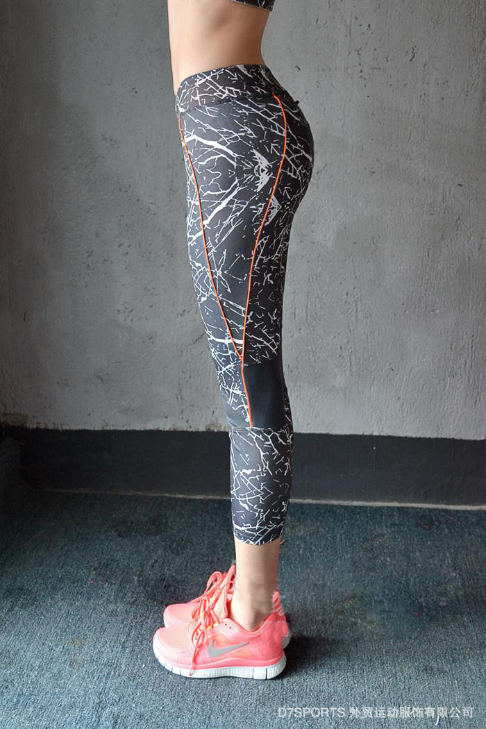 2015 New Stone Pattern Quick Drying Fitness Trousers Outdoor Running Pants Gym Leggings Apparats Elastic Women Sport Pants Ps021(China (Mainland))