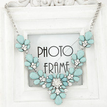 New Brand Statement Choker Vintage Charms Gem Collar Fashion Crystal Rhinestone Necklaces&Pendants Women Fine Jewelry Colar A311(China (Mainland))