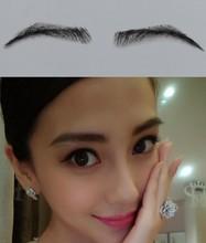 wholesale Jet black color princess fake eyebrow false eyebrow made of 100% natural hair /dubai princess human hair eyebrow