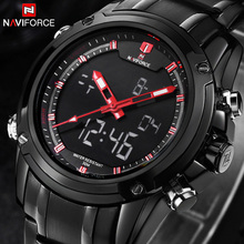 Top Men Watches Luxury Brand Men's Quartz Hour Analog Digital LED Sports Watch Men Army Military Wrist Watch Relogio Masculino