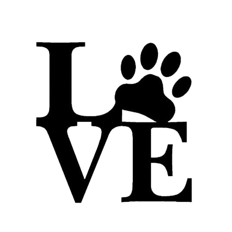11cm*11.3cm Creative Styling LOVE Dog Footprints Stickers Fashion Personality Body Stickers C5-0002(China (Mainland))