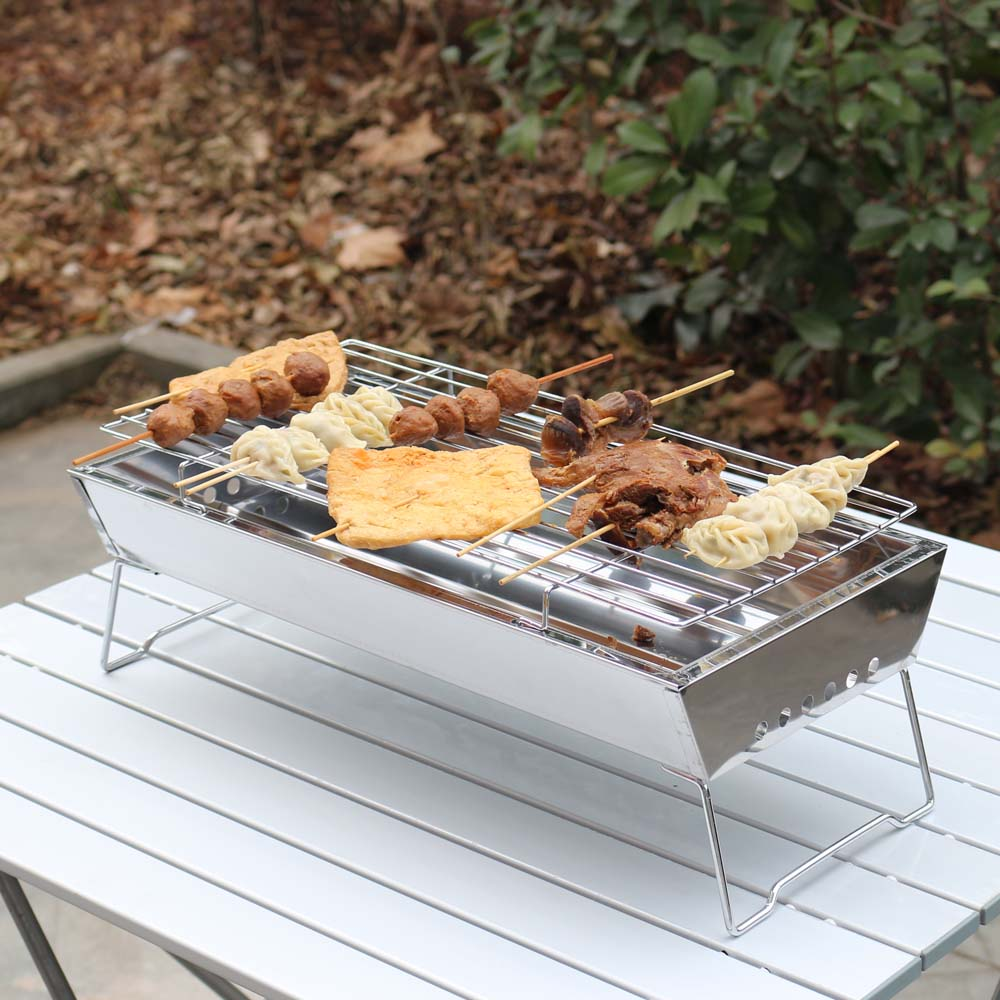 2015 new outdoor easy stainless steel portable carbon barbecue grill(China (Mainland))