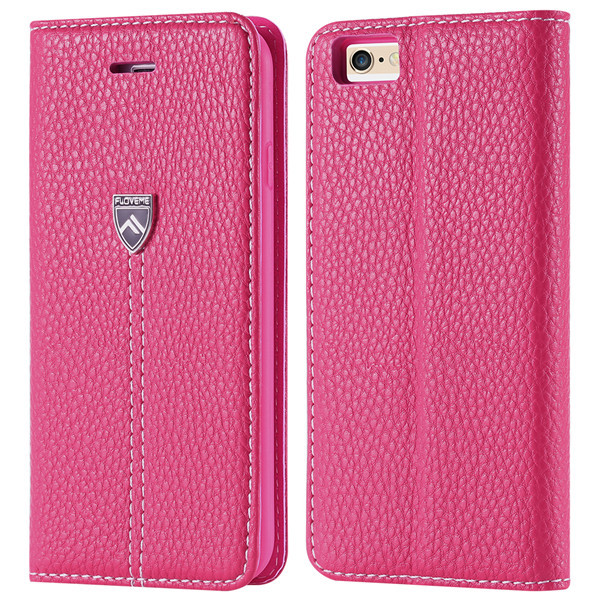 New Brand Two Type Business Style Genuine Leather Flip Case for iphone 6 Plus 5.5 Wallet Holder With Stand Cover For iPhone6 4.7(China (Mainland))