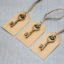 Wedding Tags , Antique Key Gift Tags, Wedding Favor Tags, Set of 100pcs, Place Cards, Escort Card Vintage Keys(China (Mainland))