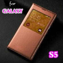 Умный вид оболочки авто-сон пробуждение функции мешок с чип кожаный чехол откидная крышка чехол для Samsung Galaxy S5 I9600 G900 G900F