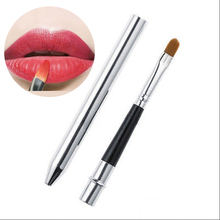 Professional Make Up Tool Portable Retractable Cosmetic Lipstick Gloss Lip Brush(China (Mainland))