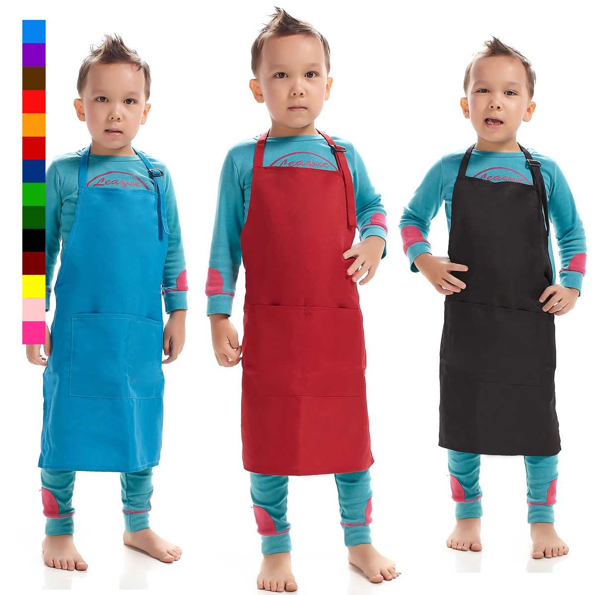 Seven Korean children painting lotus simple apron clothes 88006 adjustable sleeveless apron overclothes custom embroidery(China (Mainland))