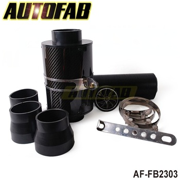 AUTOFAB -Universal Cold Feed Induction Kit & Carbon Fibre Air Intake Filter Box with fan AF-FB2303