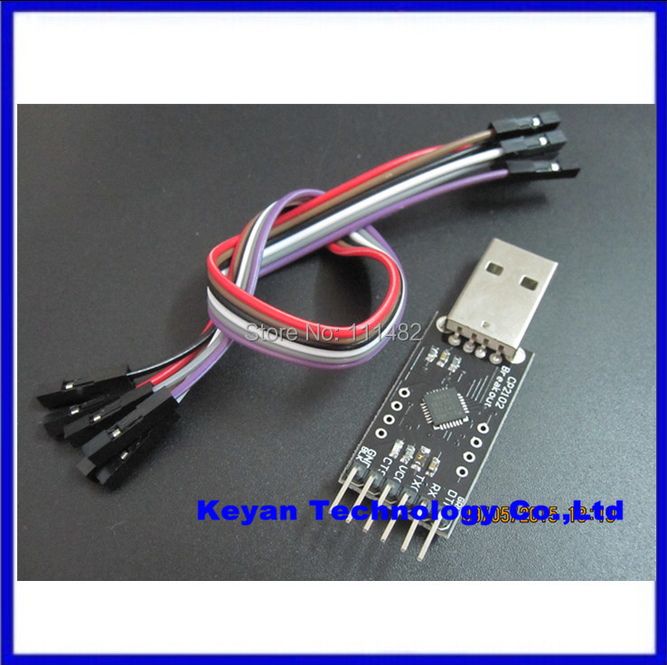 product 5PCS/LOT  CP2102 module STC Download USB to TTL Send Dupont Line