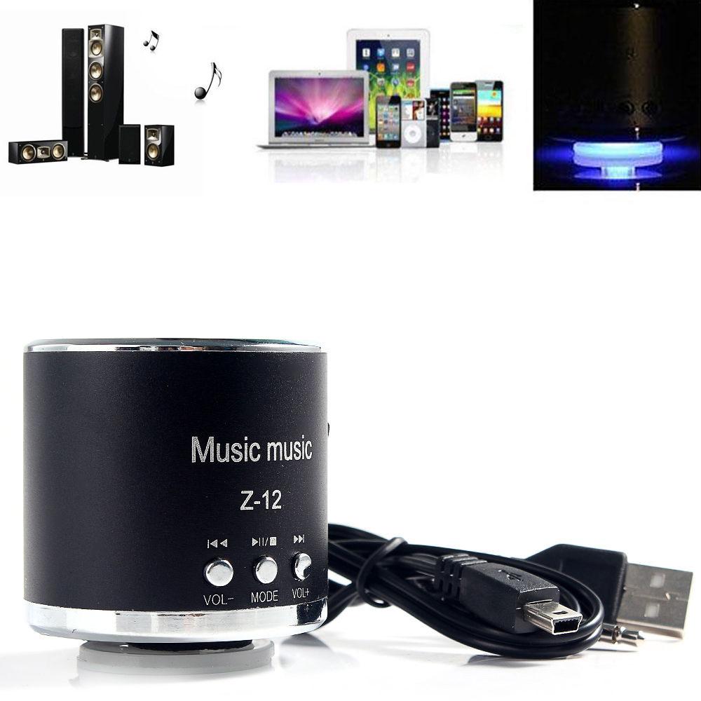 Digital Stereo LED Light Speaker Amplifier FM Radio USB Disk Micro SD/TF Card MP3 Music Player 3.5mm Earphone Black(Hong Kong)