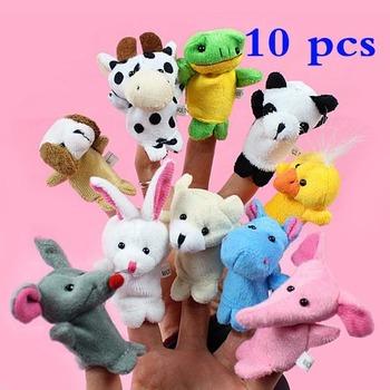10x мультфильм биологических животных пальцем кукольный плюшевые игрушки для детей детские пользу куклы сша # V