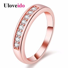 Buy 15% Uloveido Fashion Rings Women Crystal Ring Silver Bijoux Jewelry Anelli Donna Ringen New Year Gift Bijouterie J294 for $3.53 in AliExpress store