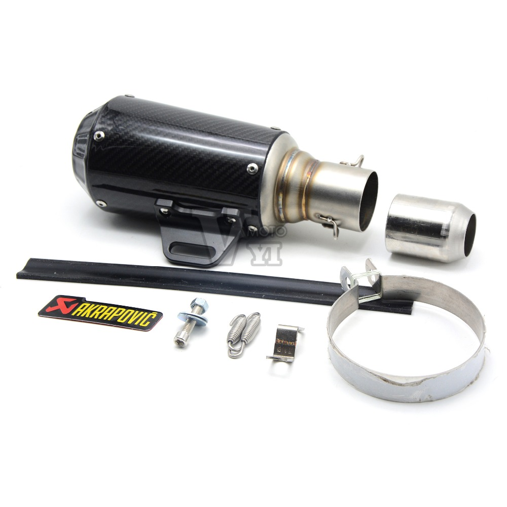 Motorcycle Scooter Akrapovic escape pipe Muffler pipe FOR kawasaki z800 2013 2014 2015 z750 2007-2012 ZX1400 / ZX14R / ZZR1400(China (Mainland))