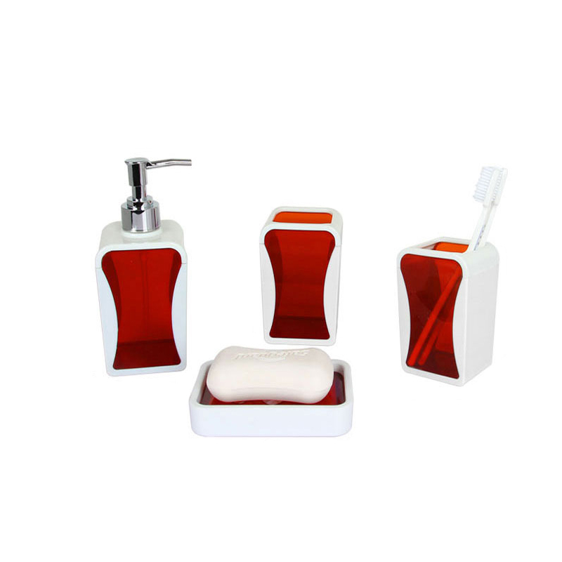 Discount hot sale 4pcs bathroom sets tooth brush holder for Bathroom accessories sets on sale