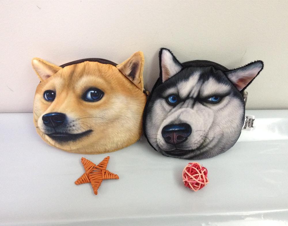 Doge Stuffed Animal Printing Dog Coin purses