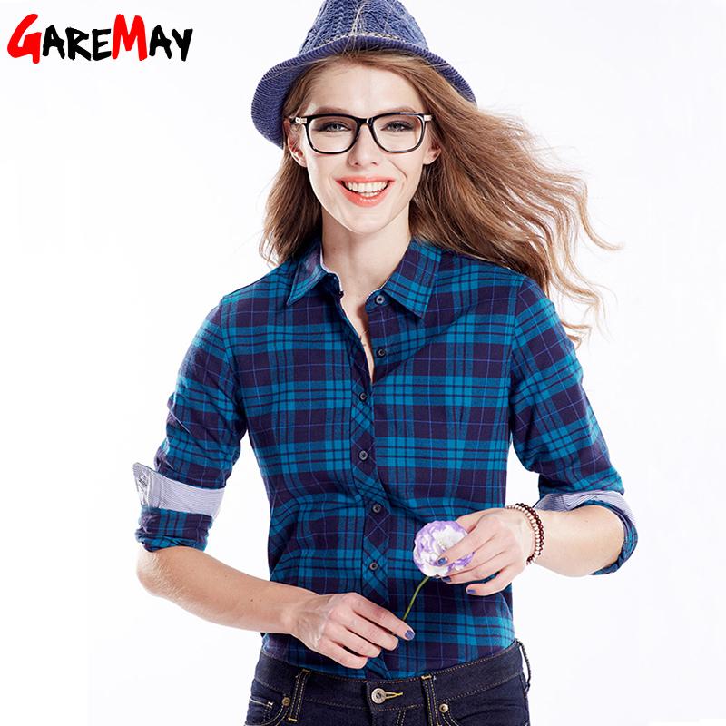 2016 spring women 39 s plaid shirt blusas blouses women for Women s stewart plaid shirt