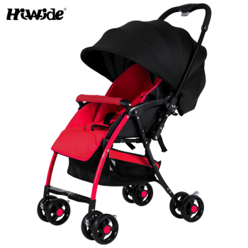 Baby trolley portable folding two-way can sit can lie umbrella car<br><br>Aliexpress