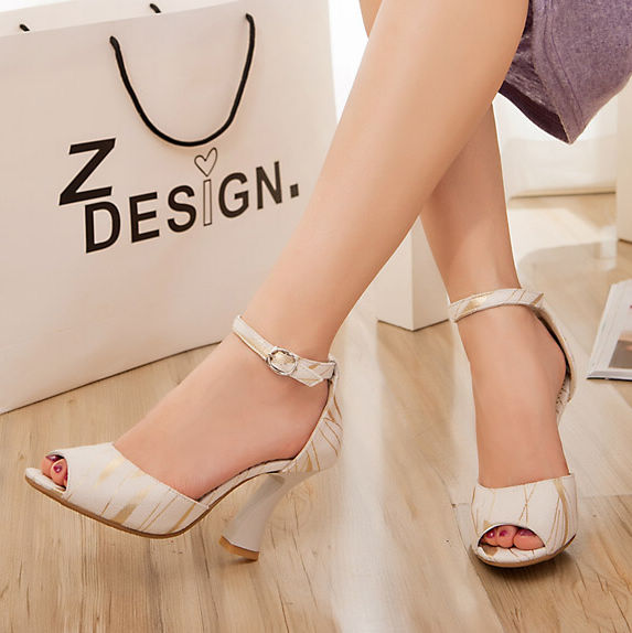 new 2015 womens woman shoes Sandals Pumps high heels Rough thick heels open toe buckle ankle wrap three colors size34-43 801-1(China (Mainland))