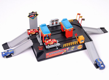 4 Cars Automobile Race DIY Parking Model Educational Toys for Children Gift Packeting
