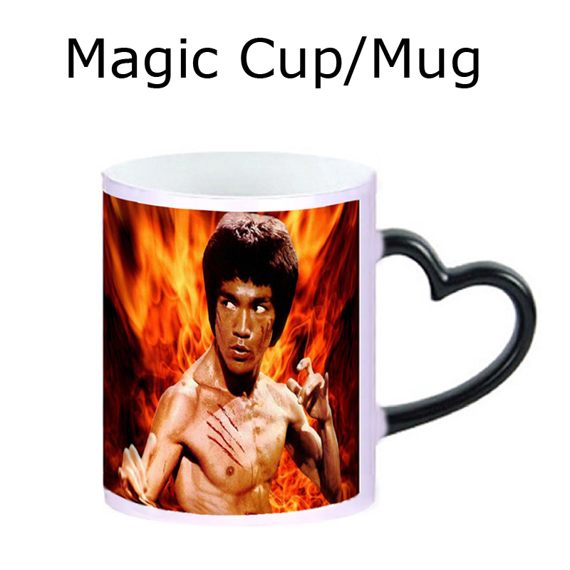 2015 New Elegant Ceramic Coffee Cups, Creative Tea Mug With Customized Photos Printed, Can Change Color When With Hot Water(China (Mainland))