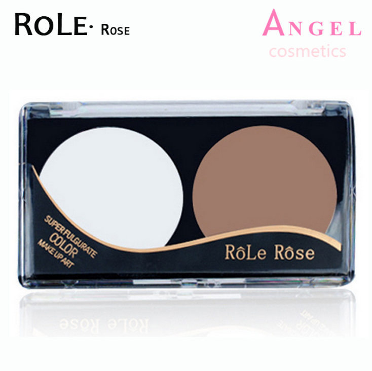 Professional Brand Makeup Two-Color Bronzer & Highlighter Powder Trimming Powder Make Up Cosmetic Face Concealer BY ROLE(China (Mainland))