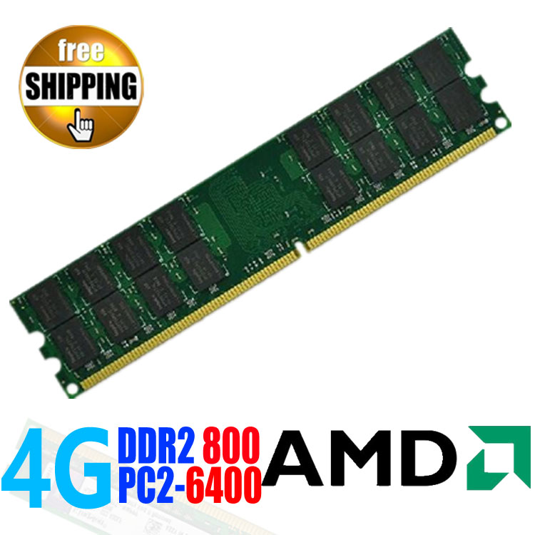 Wholesale Brand New DDR2 DDR 2 800 Mhz / PC2 6400 4GB For Desktop PC DIMM Memory RAM DDR800 800Mhz / compatible AMD Motherboard<br><br>Aliexpress