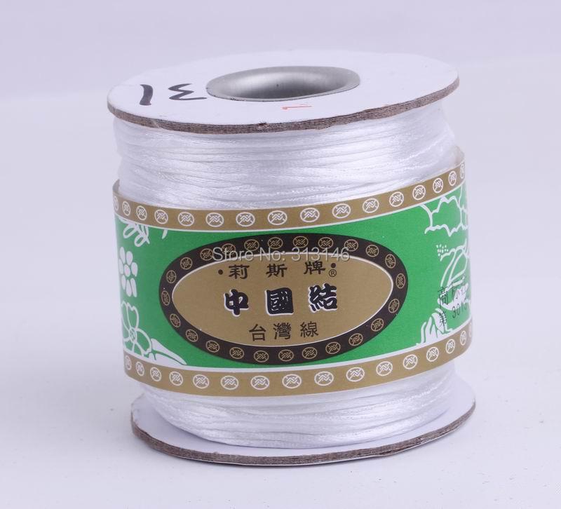 80M/Roll 1.5MM Braided White Nylon Chinese Knotting Cord Macrame Beading String Thread for Handcraft Handmade Shamballa Jewelery(China (Mainland))