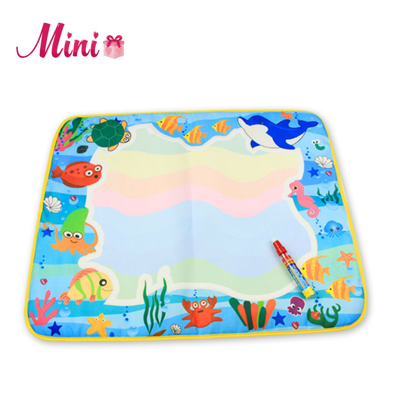 60x49cm Kids Water Drawing Painting Writing Toys Doodle Aquadoodle Mat Magic Pens Children Drawing Board(China (Mainland))