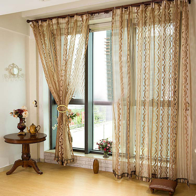 quality window curtain for living room modern home decor window curtain volie sheer. Black Bedroom Furniture Sets. Home Design Ideas